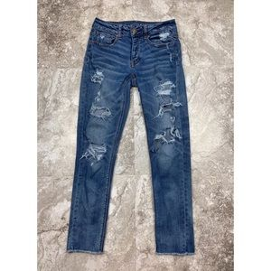 American Eagle Stretch Tomgirl Jeans Size 0
